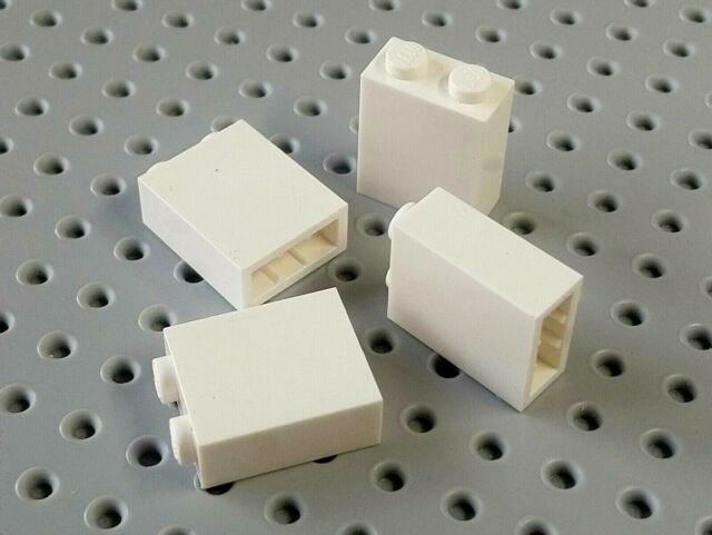 Lego Brick 1x2x2 with Inside Axleholder White x4 3245