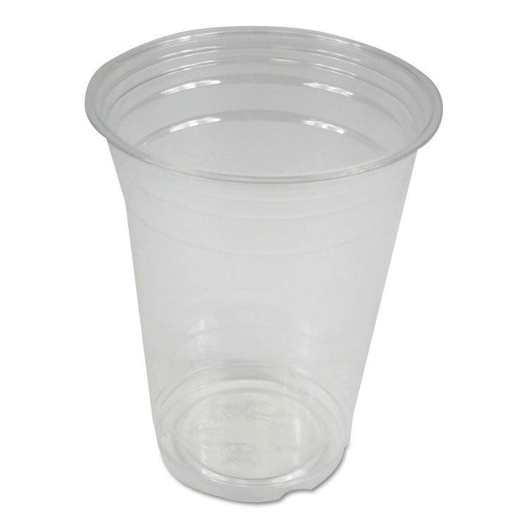 Clear Plastic Cold Cups, 16 oz, PET, 1000 Carton