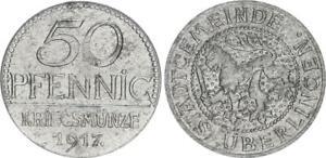 Überlingen 50 Pfennig 1917 vz-prfr. 53801