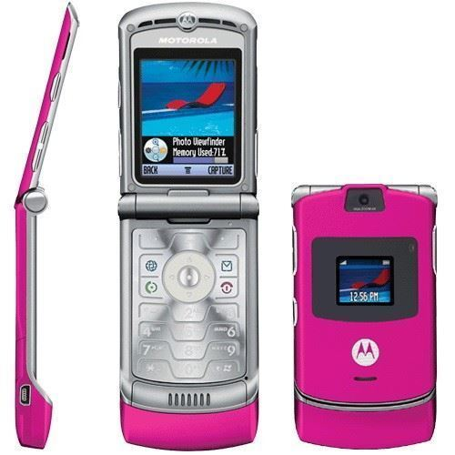 Motorola RAZR V3 Unlocked flip Mobile Phone New Boxed Pink