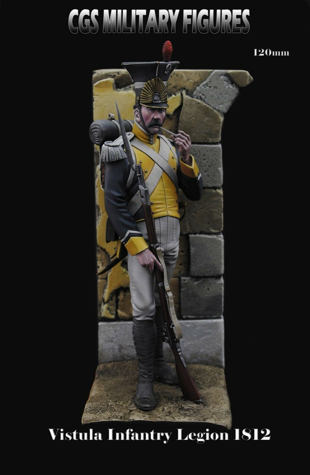 CGS Vistula Legion Infantry French Army 1812 120mm Unpainted kit CARL REID