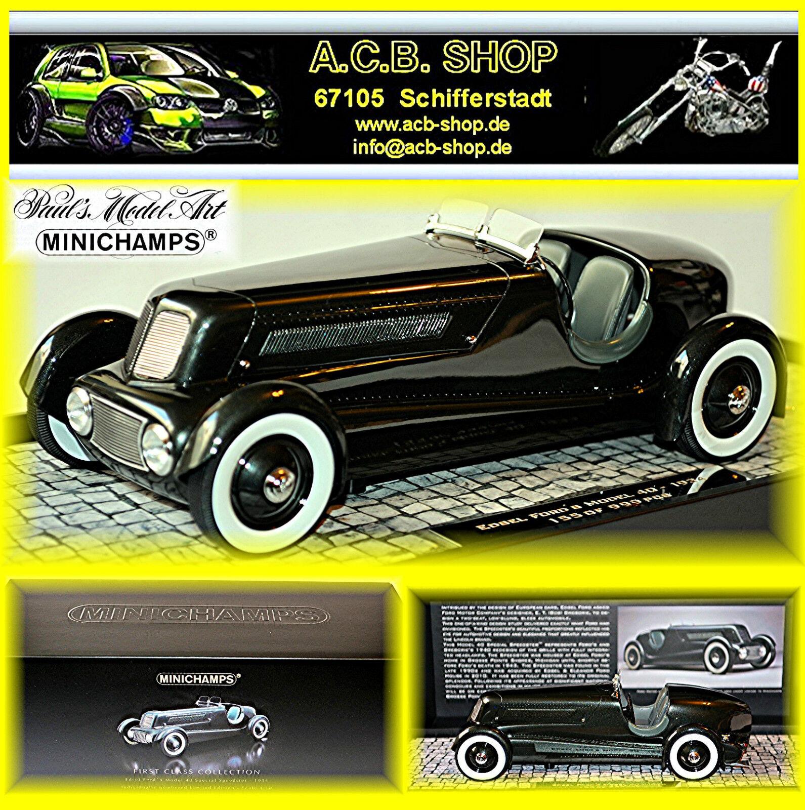a la venta Edsel Ford Model 40 Special Speedster 1934 Pearl Pearl Pearl Essence Gun metalizado 1 18  Web oficial