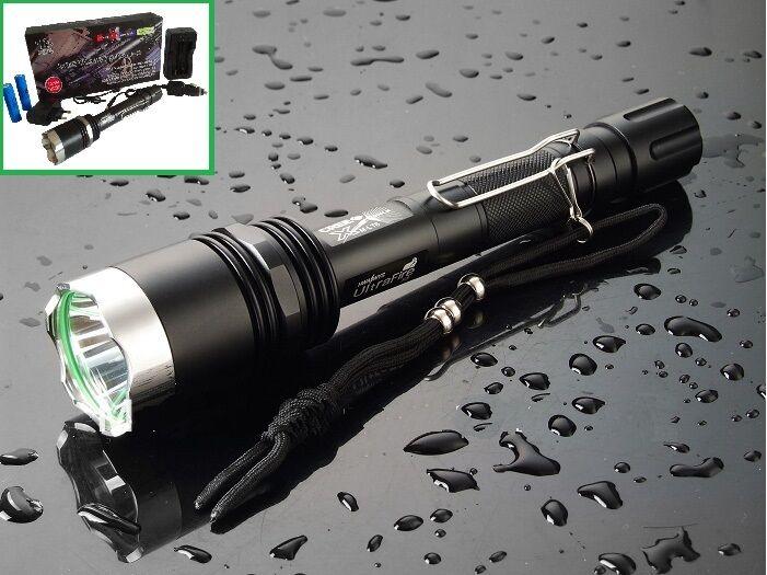 Taschenlampe CREE XM-L T6 ultra LED Taschenlampe TORCH 5 Modi ultra T6 HELL Reichw.1000M d0848d