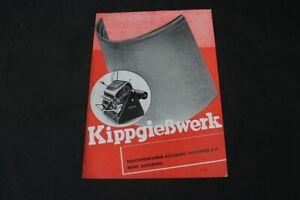 Age Print Kippgießwerk Man Advertising Vintage Collector