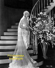 MARION DAVIES 8X10 Lab Photo B&W 1920s HAUNTING GLAMOUR Stairway BRIDE PORTRAIT