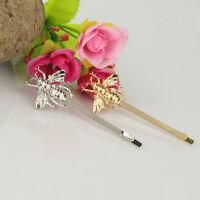 2× Feminin Modeschmuck Bienen Form Haarnadeln Gold/silber Beschichtet Haarspange