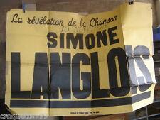 Affiche la revelation de la chanson SIMONE LANGLOIS