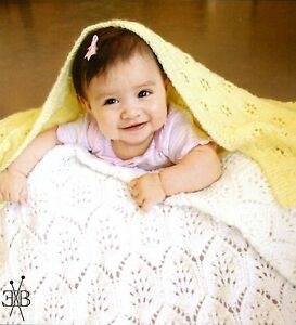 Fiber Trends KNITTING PATTERN CH48 Light & Lacy Baby Blankets