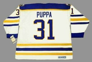 4e3b43e7f47 Image is loading DAREN-PUPPA-Buffalo-Sabres-1990-CCM-Vintage-Throwback-