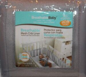 Protector de malla para cuna BreathableBaby color gris