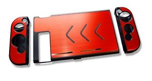 Nintendo-Switch-Console-Red-Aluminium-Metallic-Shell-Case-Protector-UK-Seller