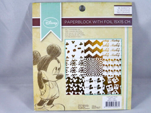 Hintergrundpapier Desingblock Micky Maus 18 Blatt Scrapbooking Basteln