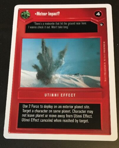 Star Wars CCG WB Hoth Unlimited Meteor Impact?