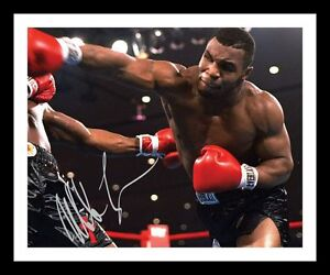 MIKE TYSON AUTOGRAPHED SIGNED /& FRAMED PP POSTER PHOTO