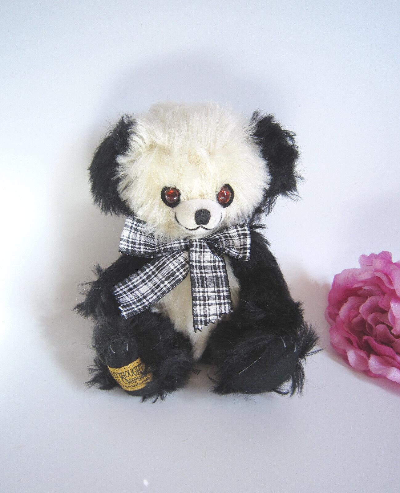 Merrythought Mohair Cheeky Beanie Panda Bear 8 . perfetto. BELLO.