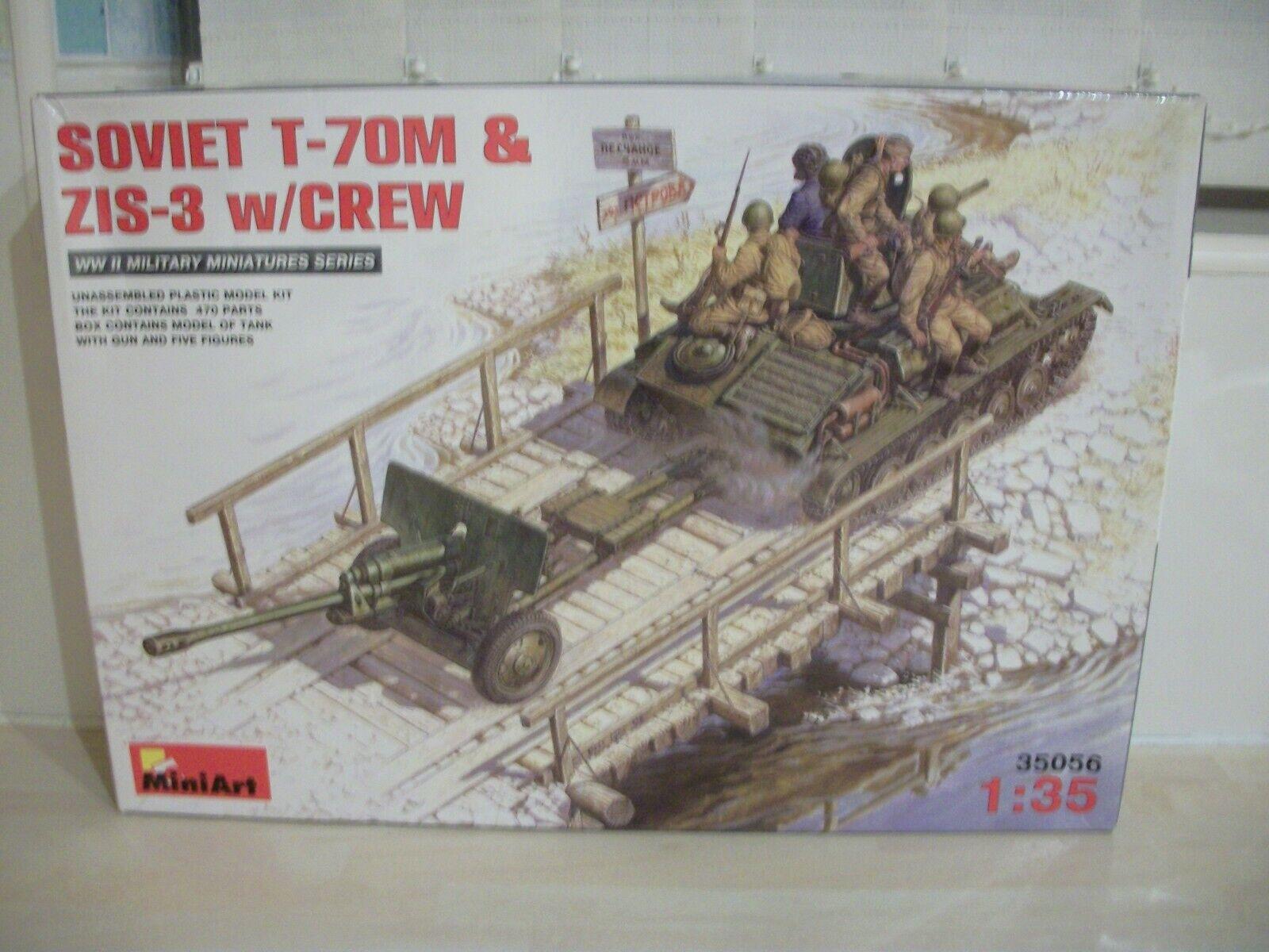 MiniArt 35056 1 35 Scale Soviet T-70M & ZIS-3 with Crew Model Kit