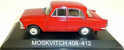 Hospitable Moskvitch 408 412 Car Red New 022 1:43 Ht3 µ Long Performance Life Cars
