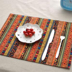 Tapis-de-Table-Vaisselle-Mat-Pads-Napperon-Pont-Double-Nappe-Restaurant-Ethnique