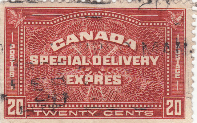 Canada Used Special Delivery Expres Twenty Cents