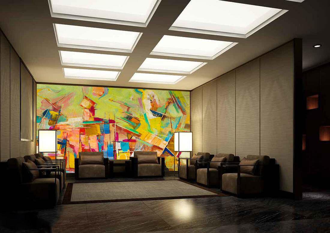 3D Art messy color 1 WallPaper Murals Wall Print Decal Wall Deco AJ WALLPAPER