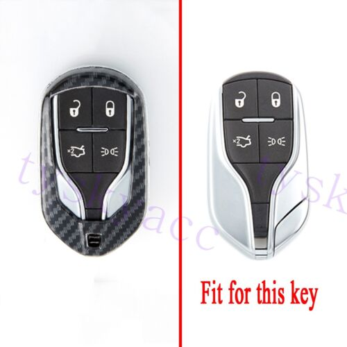 Carbon Fiber Key Bag Box Case Shell Fob For Maserati Levante Ghibli Quattroporte