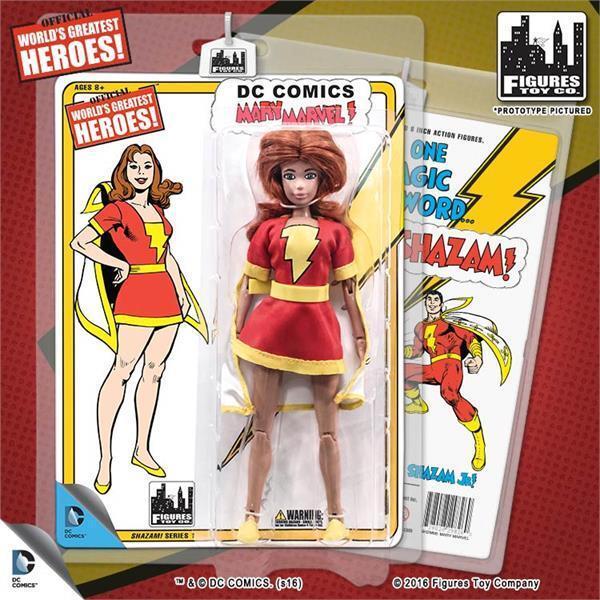 DC Comics Shazam Retro 8  inch action figure  Series 1 Mary Mavel MIP