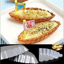 New Egg Tart Sailing Boat Aluminum Cake Birthday Tin Bakeware Pan Baking Mold #T