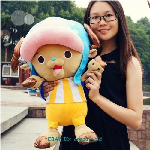 "Largel Size Stuffed One Piece Tony Chopper  Plush Doll Toy New World Ver 20/""H"