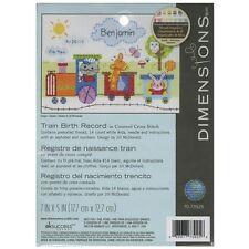 Dimensions Train Birth Record Counted Cross Stitch Kit - 051521