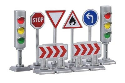 Traffic Signs Majorette 212053001 Verkehrszeichen // Absperrungen Set 1 Neu
