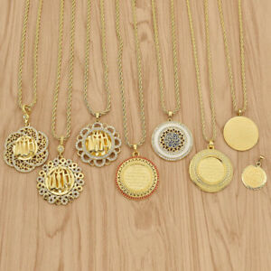 1-Pc-Islamic-Muslim-Allah-Necklace-Roung-Tag-Pendant-Charms-Women-Jewelry-Gift