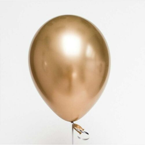 10pcs 12 inch Chrome Metallic Round Latex Balloons Gold Silver Pink Wedding