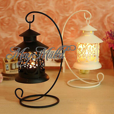 Hot Sale Iron Moroccan Candlestick holder Candle Stand Light Holder Lantern J