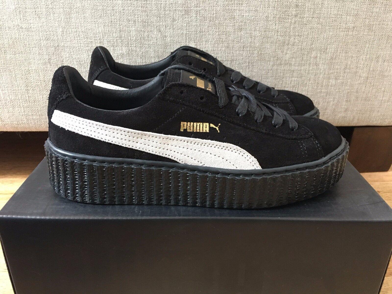 Puma X Rihanna Fenty Creepers Suede Black and and and White UK5 6 EU38 39 4cadf9