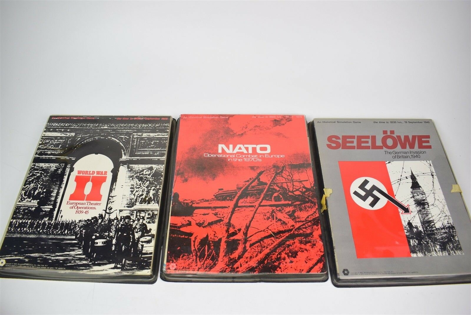 Lot of 3 SPI games - WWII theater of operations, NATO, Seelowe