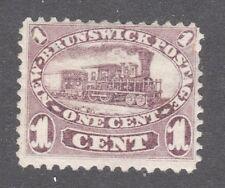 NEW BRUNSWICK STAMP #6a    -- 1c BROWN VIOLET VARIETY -- 1860 -- UNUSED