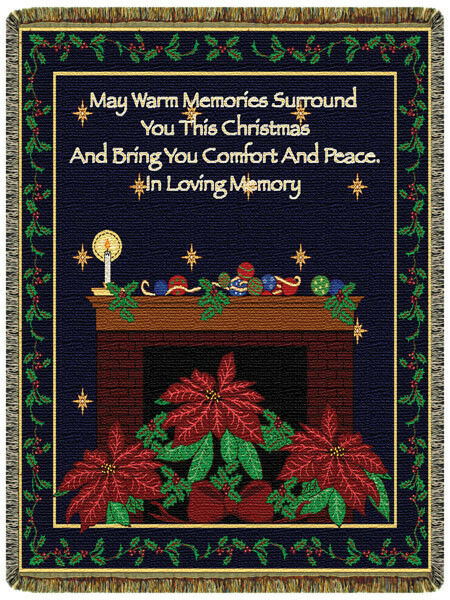 Christmas Memories North American Made Holiday Woven Tapestry Throw Blanket
