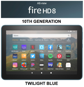 NEW Amazon Fire HD 8 Tablet 32 GB - 10th Generation 2020 Release - TWILIGHT BLUE