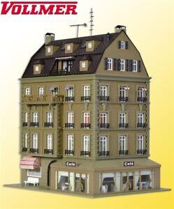 Vollmer H0 43783 Café Avec Design D'intérieur Et Eclairage Led - Neuf