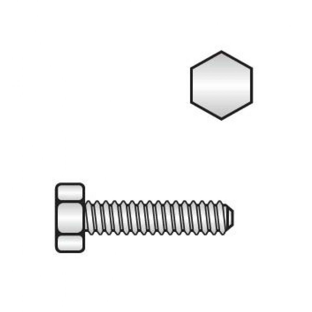 200x Außensechkant Sperrzahnschrauben M 10 x 25. 8.8 blank. Vollgewinde
