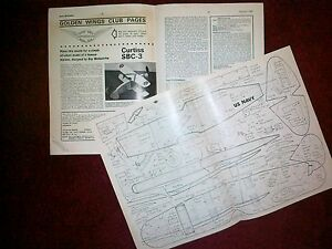 Curtiss Sbc-3 Simple Semi Scale En Caoutchouc Plan Type Par R Malmstrom-afficher Le Titre D'origine