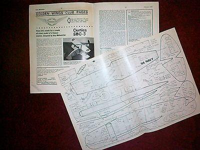 Accurato Curtiss Sbc-3 Semplice Semi Scala Del Modello In Gomma Piano Da R Malmstrom-mostra Il Titolo Originale Vendendo Bene In Tutto Il Mondo
