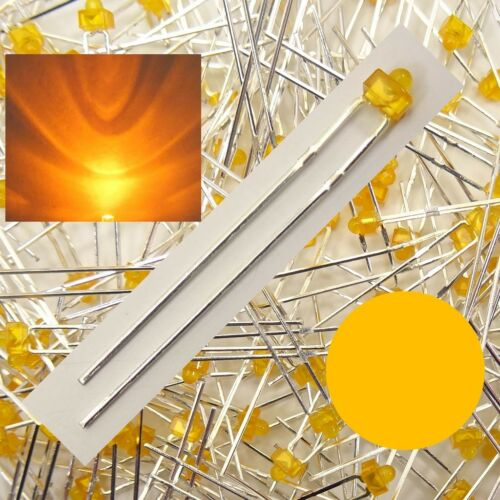 DEL 1,8 mm orange diffuse Quantité Sélectionnable 1//10//25//50 pcs c3644