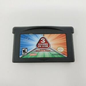 3 Games In One Majesco's Sports Pack (Gameboy Advance) GBA Authentic Tested