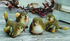 Mini Resin Wood Warbler Bird Figurine Set of 4