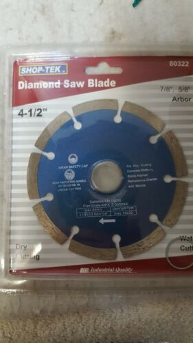 "10 NEW  4 1//2/"" Diamond Saw Blades  Concrete Masonry Stone Asphalt Granite"