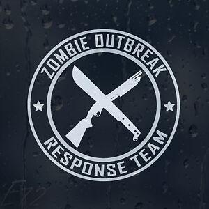 Zombie-Cross-Guns-Outbreak-Response-Team-For-Car-Or-Laptop-Decal-Vinyl-Sticker