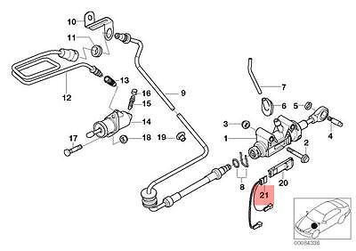 GENUINE OEM BMW E36 Z3 Cabrio Compact Coupe Ignition Lead 12121247523