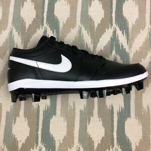 Nike-Air-Jordan-1-Retro-MCS-Men-039-s-Low-Baseball-Cleats-Black-Size-9-5-10-5-11