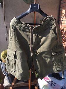 ABERCROMBIE-amp-FITCH-TALLA-46-Cm-CARGO-ARMY-Pantalon-Corto